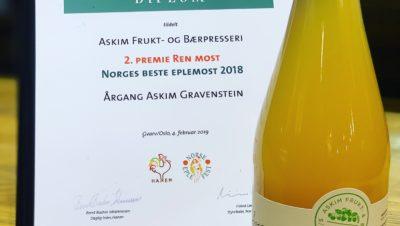 Diplom Norges Beste Eplemost