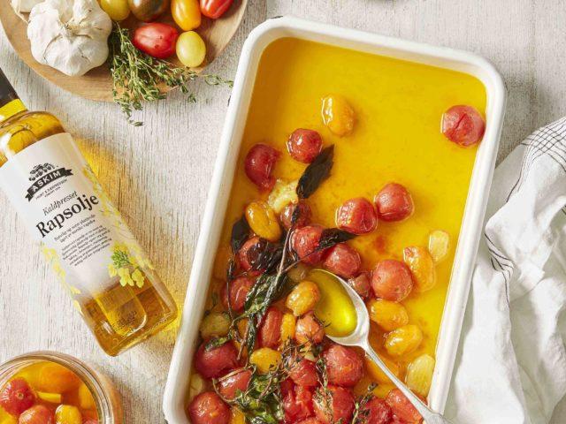 Konfiterte tomater i rapsolje