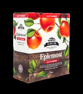 Eplemost med fruktkjøtt Kartong 3L Ny