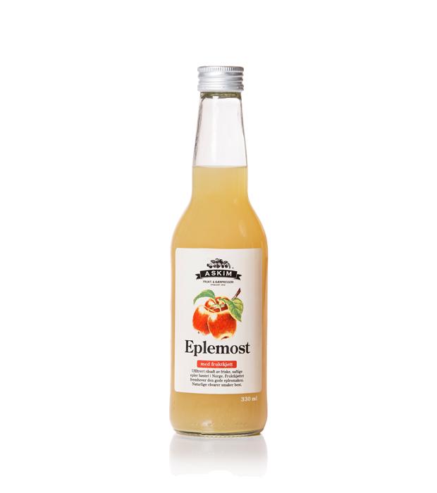Eplemost med fruktkjøtt 0,33 liter